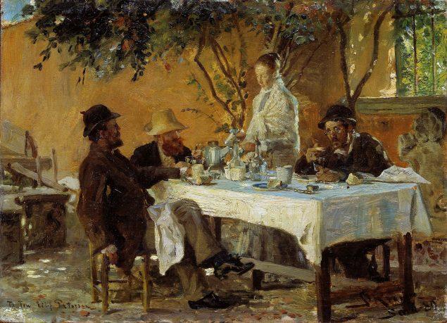 P.S. Krøyer: Frokost i Sora. Nasjonalmuseet for kunst, arkitektur og design, Oslo.