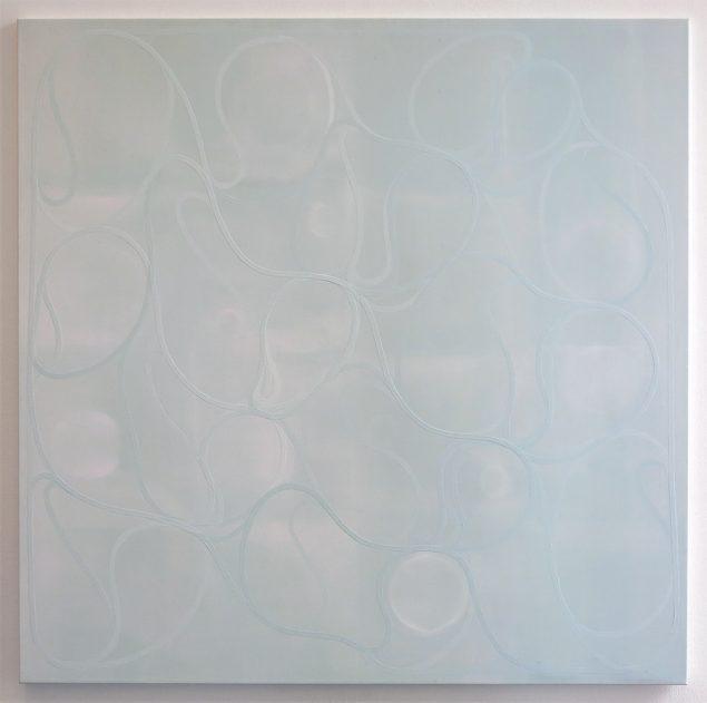 Uden titel, 2015, akryl på lærred,140x140 cm. Foto: Marie Søndergaard Lolk