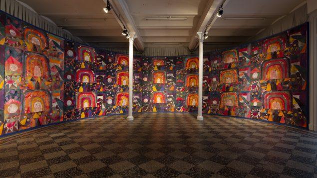 Alexander Tovborg: Bocca Baciata. Installationsview, 2014, Overgaden - Institut for Samtidskunst, København. Foto: Anders Sune Berg