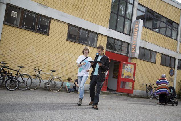 Fabrikken for Kunst og Design var værter for dette års Alt_Cph, som blev kurateret af Charlotte Bagger Brandt og Amalie Frederiksen. Foto: Frida Gregersen
