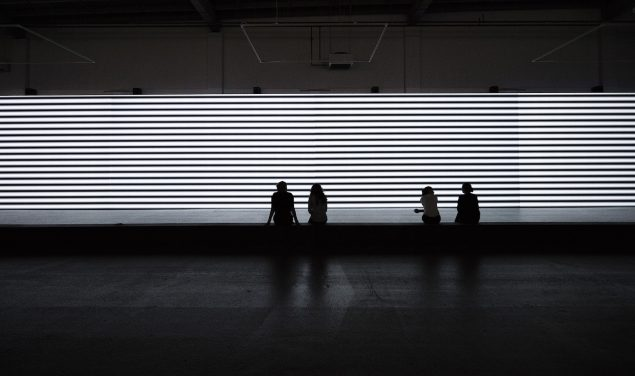 Carsten Nicolai: unidisplay, 2012, Copenhagen Contemporary, 2016. Foto: Anders Sune Berg