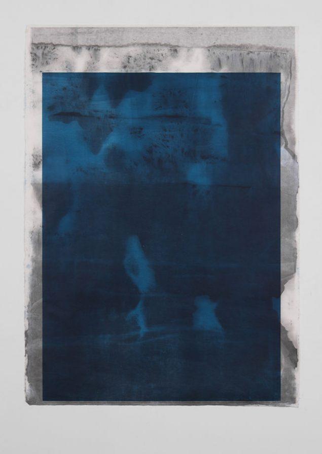 Untitled, Monotype - Plexiglas højprint på rispapir, 2015, 140 x 100 cm. Foto: Jon Erik Nyholm