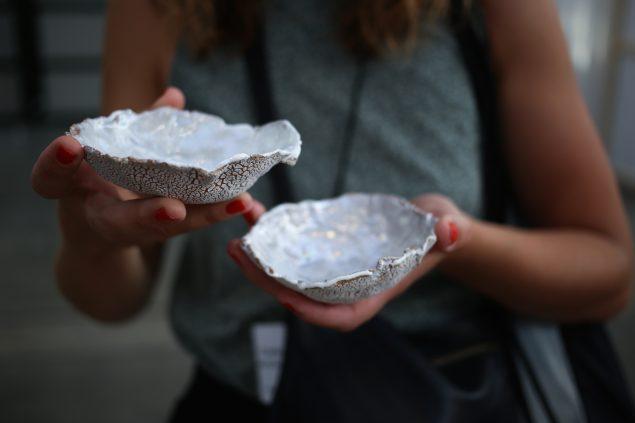Kasper Hesselbjerg: Jeg gav dem østers og lod dem vrøvle, Code Art Fair, 2016. Foto: Katrine Møbius