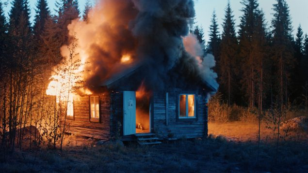 Ragnar Kjartansson: Scenes From Western Culture, Burning House, 2015. Single channel video. Courtesy of the artist, Luhring Augustine, New York & i8 Gallery, Reykjavik.