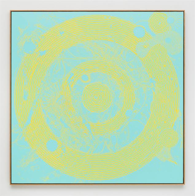 Nils Erik Gjerdevik: Echo no. 8, 2016, olie på lærred, 190 x 190 cm. Courtesy: Nils Stærk