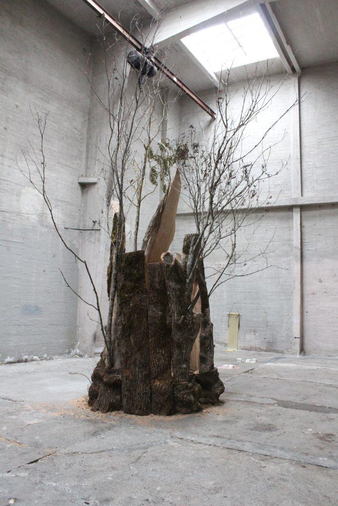 Petter Ballo på udstillingen Curated by a Tree på det kunstnerdrevne udstillingssted 1857. Foto: Ole Bak Jakobsen.