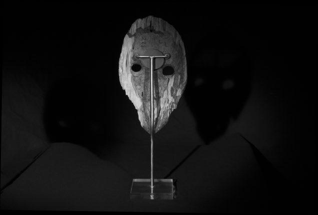 Uden titel (afrikansk maske set bagfra), 2016. Foto: Sophie Hjerl
