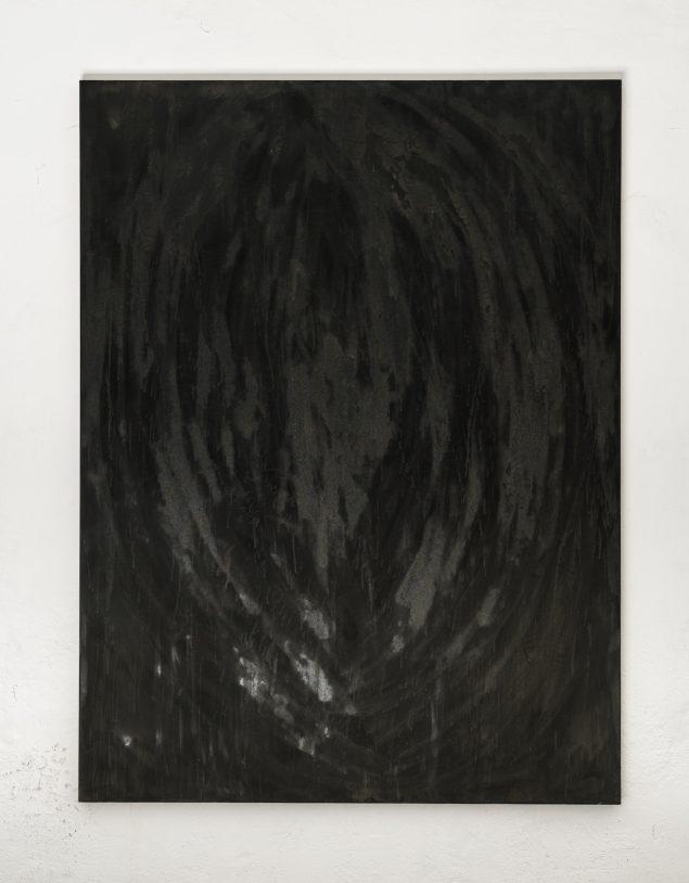 Christan Bang Jensen: Untitled (dans une cave), 2016. Oil and ink on canvas. Foto: David Stjernholm