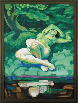J.F. Willumsen: Den Grønne Pige, 1922