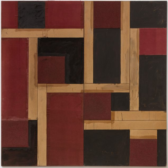 Simultan B, 1988. Maleri, 245 x 245, Sorø Kunstmuseum. Foto: Anders Sune Berg