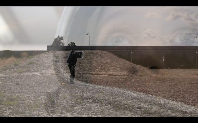 Still fra video til udstillingen Phobos af Rasmus Brink Pedersen