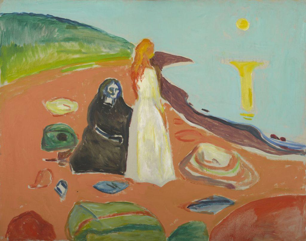 Edvard Munch: To Kvinder på stranden. Foto: Munchmuseet