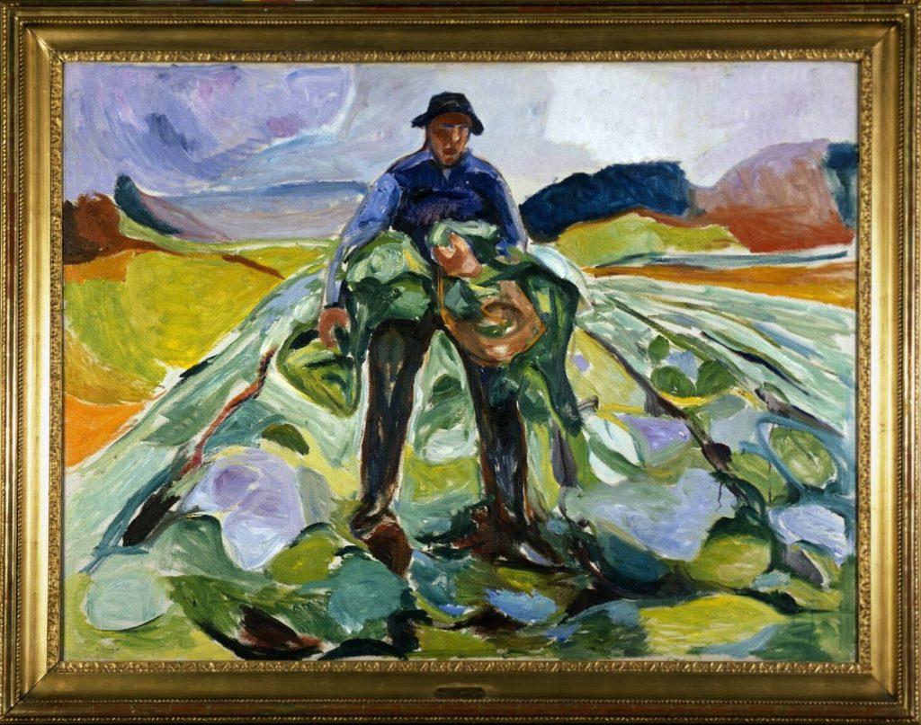Edvard Munch: Manden i Kålmarken. Foto: Munchmuseet