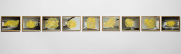 Double Room Yellow (Movie). Arbejde i 9 dele, 2001. 490 x 40 cm. Sorø Kunstmuseum. Foto: Anders Sune Berg