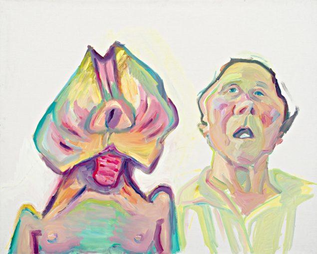 Maria Lassnig: Zwei Arten zu sein - Doppelselbstporträt, 2000 © Maria Lassnig Foundation