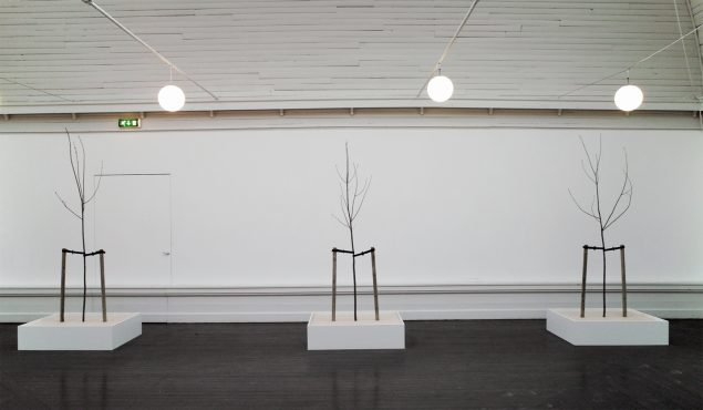 De-institutionalisering / Re-institutionalisering, Den Frie Udstillingsbygning, 2011 (Træ, maling, gummi og plastik. Tre modeller af 120 x 100 x 300 cm). Foto: Thomas Bo Østergaard