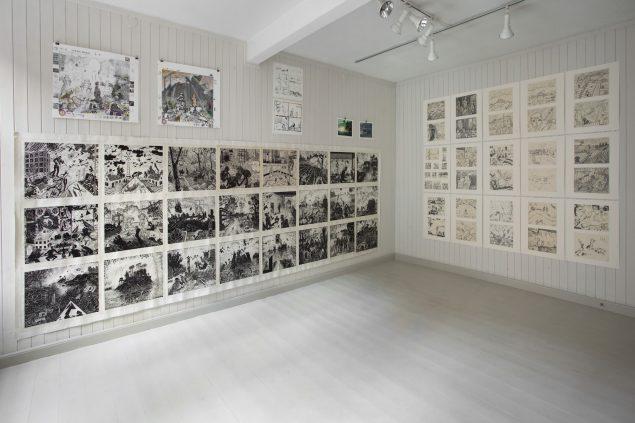 Ole Sporring: Udstillingsbillede fra Clausens Kunsthandel. Foto: Clausens Kunsthandel