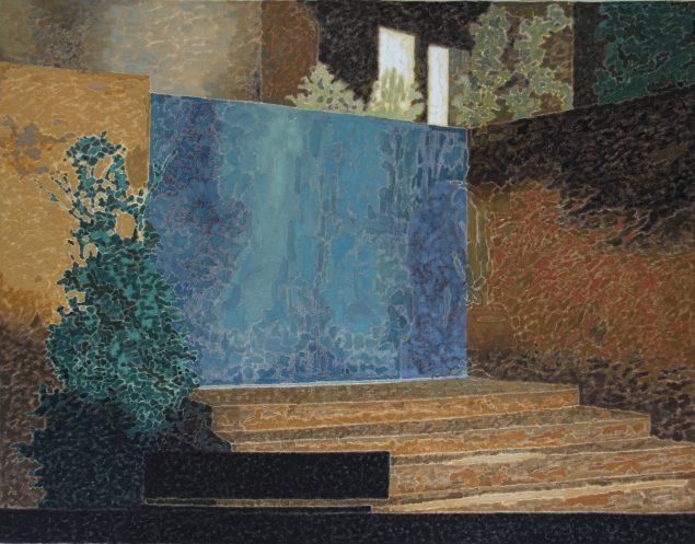 Ahmad Siyar Qasimi: Untitled, 2015, olie på lærred, 85 x 110 cm