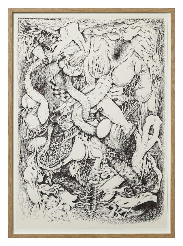 Dorte Naomi: Albino Sex and Mutilation, 2013, 55 x 74 cm © Andreas Omvik