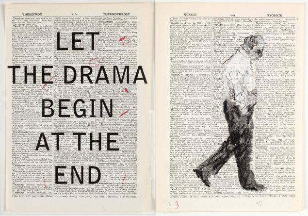 William Kentridge: Second Hand Reading, 2013, Flipbook film from drawings on single pages of the Shorter Oxford English Dictionary, HD video, colour, sound