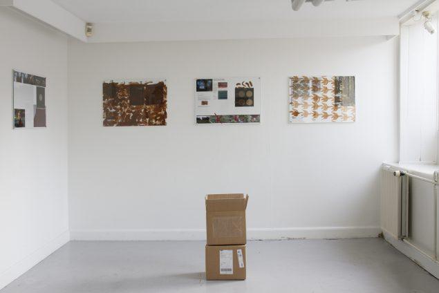 Rasmus Brink Pedersen: Phobos, udstillingsoverblik, Danske Grafikeres Hus, 2016. Foto: Paula Nimand Duvå