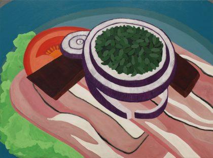 Dansk smørrebrød på udstilling