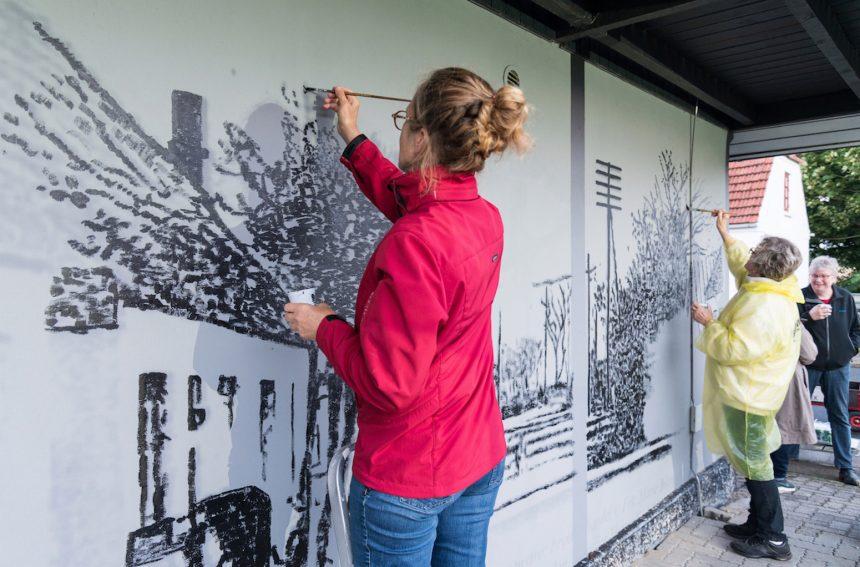 Borgerinvolverende kunstprojekt gentænker landsbyen