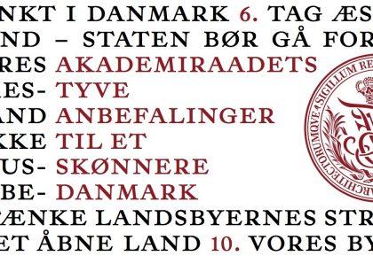 Akademiraadet publicerer tyve anbefalinger til et skønnere Danmark