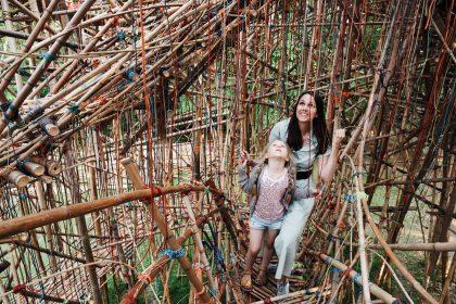 Kunstlegepladsen har fået et hovedværk i bambus