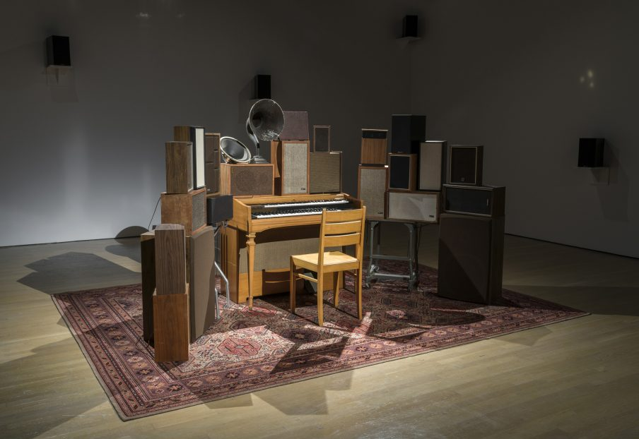 Janet Cardiff and George Bures Miller, The Poetry Machine, 2017. Courtesy of the artists; Luhring Augustine, New York; Fraenkel Gallery, San Francisco; and Gallery Koyanagi, Tokyo. Foto: Guy L'Heureux
