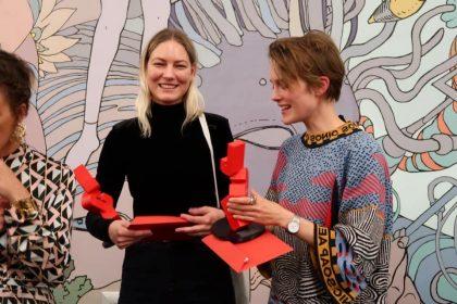 To danske prisvindere ved åbningen af JCE Biennalen 2019-2021