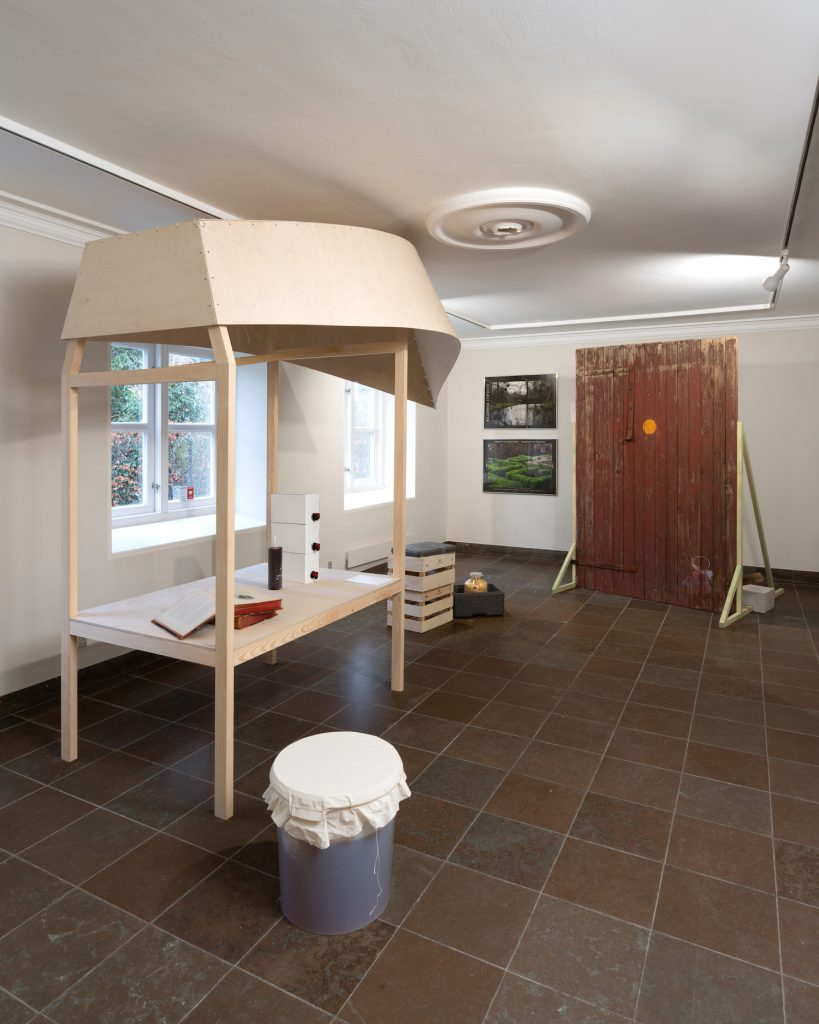 Installationsview: Arkadisk Frederiksberg, Møstings Hus 2020