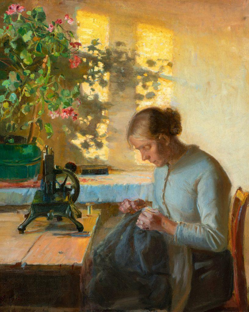 Anna Ancher, SMK, Statens museum for kunst, Syende fiskerpige