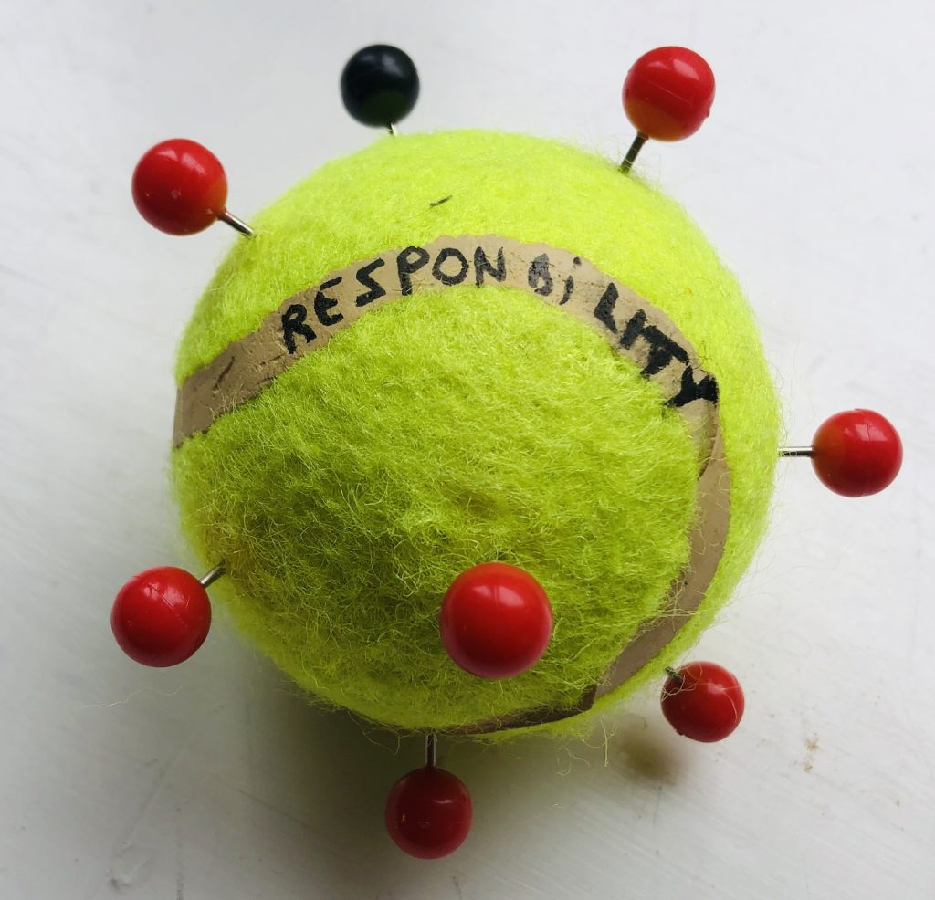Thierry Geoffroy/Colonel: Responsability. Tennisball and needles