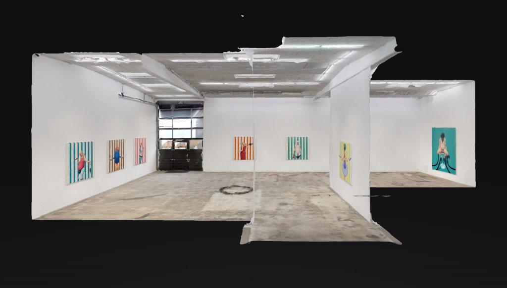 kunsten online digital kunstformidling Enter Art Fair SixtyEight Art Institute 3D version af Michael Kviums udstilling Pale Male Tales på Nils Stærk.