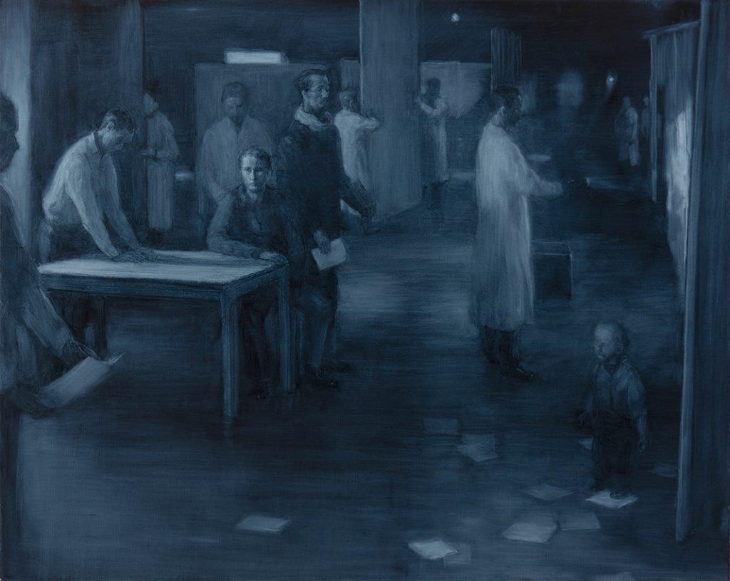Blue Room maleri af Peter Martensen.