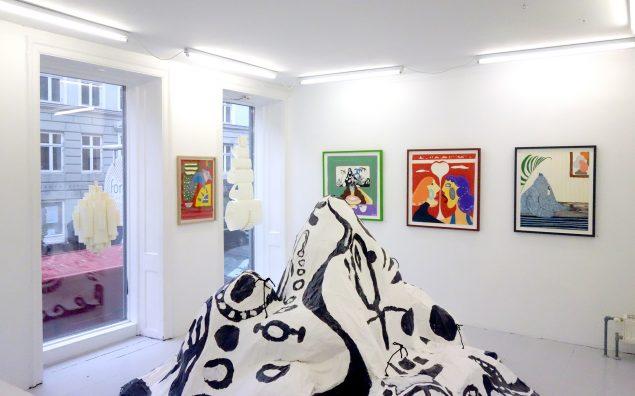 Rune Bo Madsen: Jeg har fået en hale. Installationsview. Pressefoto, Format Artspace