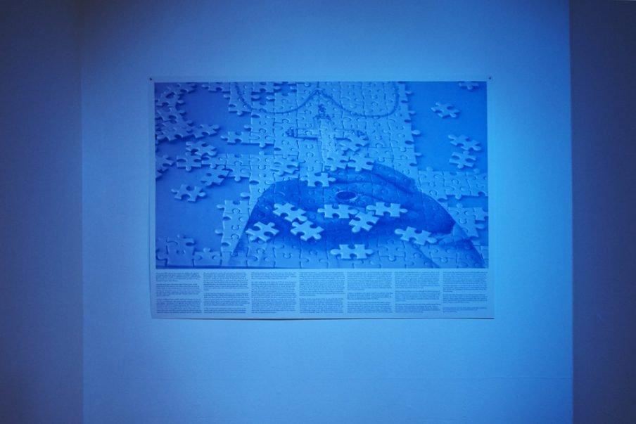 Julie Born Schwartz: Plakat tilhørende videoværket Ex-voto. Foto: SixtyEight Art Institute