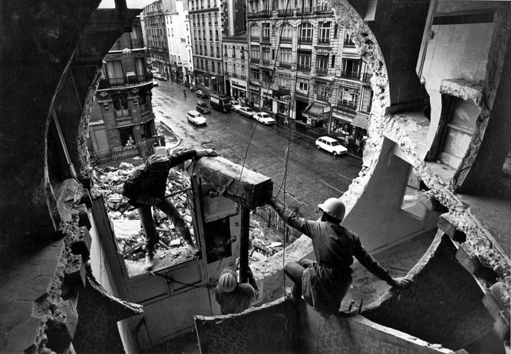 1: Gordon Matta Clark: Conical Intersect, Paris 1976. © The Estate of Gordon Matta-Clark / Artists Rights Society (ARS), New York Courtesy The Estate of Gordon Matta-Clark and David Zwirner.