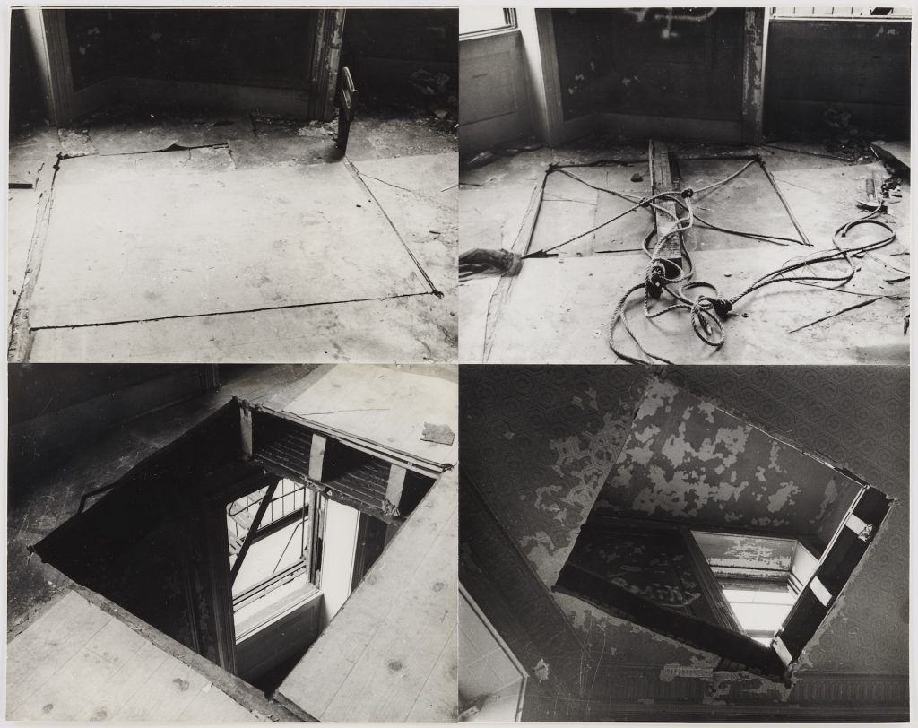 Gordon Matta-Clark: Bronx Floor: Boston Road, 1973 © The Estate of Gordon Matta-Clark / Artists Rights Society (ARS), New York Courtesy The Estate of Gordon Matta-Clark and David Zwirner.