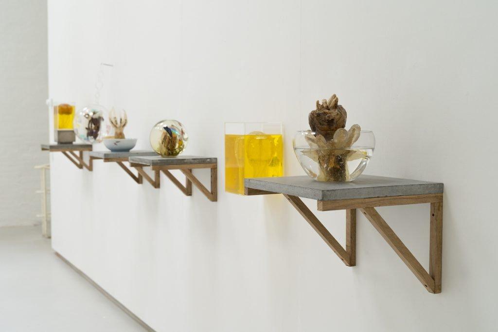 Silas Inoue: eat & becʘ̃me, 2020, udstillings oversigt. Foto: Jonas Søgaard / Søgaardfilm.
