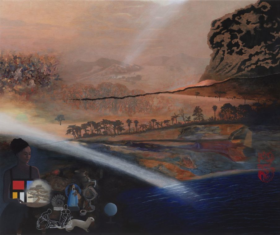Nina Sten-Knudsen- The Discovery of a New World, 2020, Oil on canvas, 151 x 182 cm. Photo- Anders Sune Berg