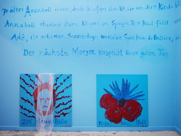 Ursula Reuter Christiansen To the Blue Hell i kældergalleriet Bizarro