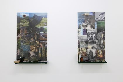 Francis Patrick Brady: The fabled AFR Machine or How to leave reality IRL, 2020, Collage windows I & II. Foto: Kevin Malcolm.