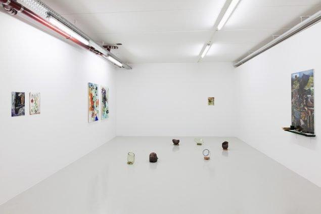 Polymono Plexusgel, 2020. Installationsvue, her ses bl.a. Hedda Grevle Ottesen og Gunnhild Torgersen. Foto: Kevin Malcolm.