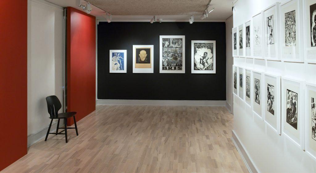 Kunstnerkollektivet Røde Mor installationsvue. Foto: Henrik Hjertholm.