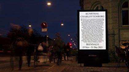Kunsthal Charlottenborg lancerer ny biennale med samtidskunst på reklamepaneler i hele Danmark