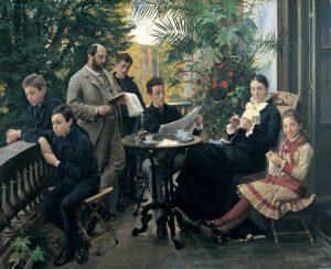 P.S. Krøyer: Hirschsprung og Krøyer. Portræt af en familie