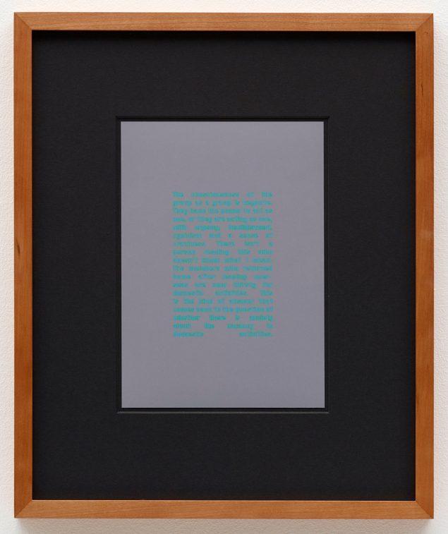 Anna Susanna Woolf. Untitled, 2016. Framed C-print. 36,5x30,5. Courtesy: Anna Susanna Woolf og Christian Andersen. Pressefoto.