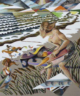 Martin Bigum. Sommerens piger, olie på kanvas, 100 x 125 cm, 2016. Pressefoto